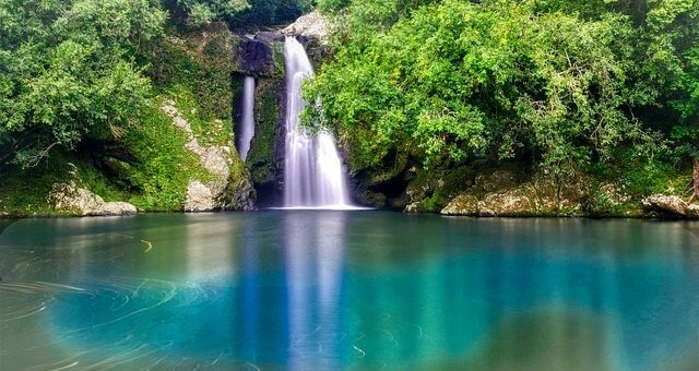 Insel La Reúnion Wasserfall