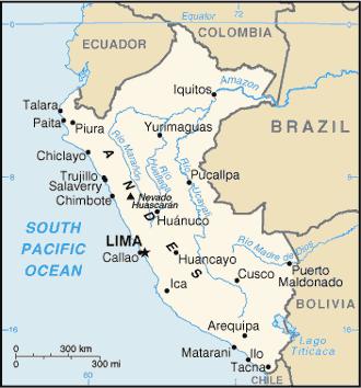Peru Landkarte